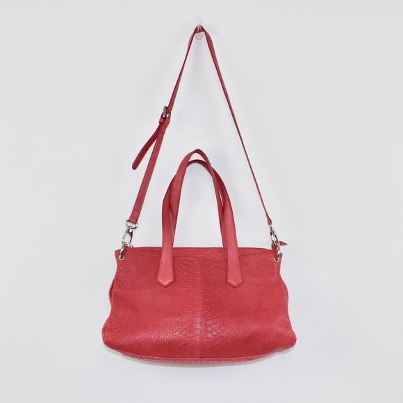 Letizia Handbags - Letizia Pink Croc Embossed Purse Crossbody Manmade